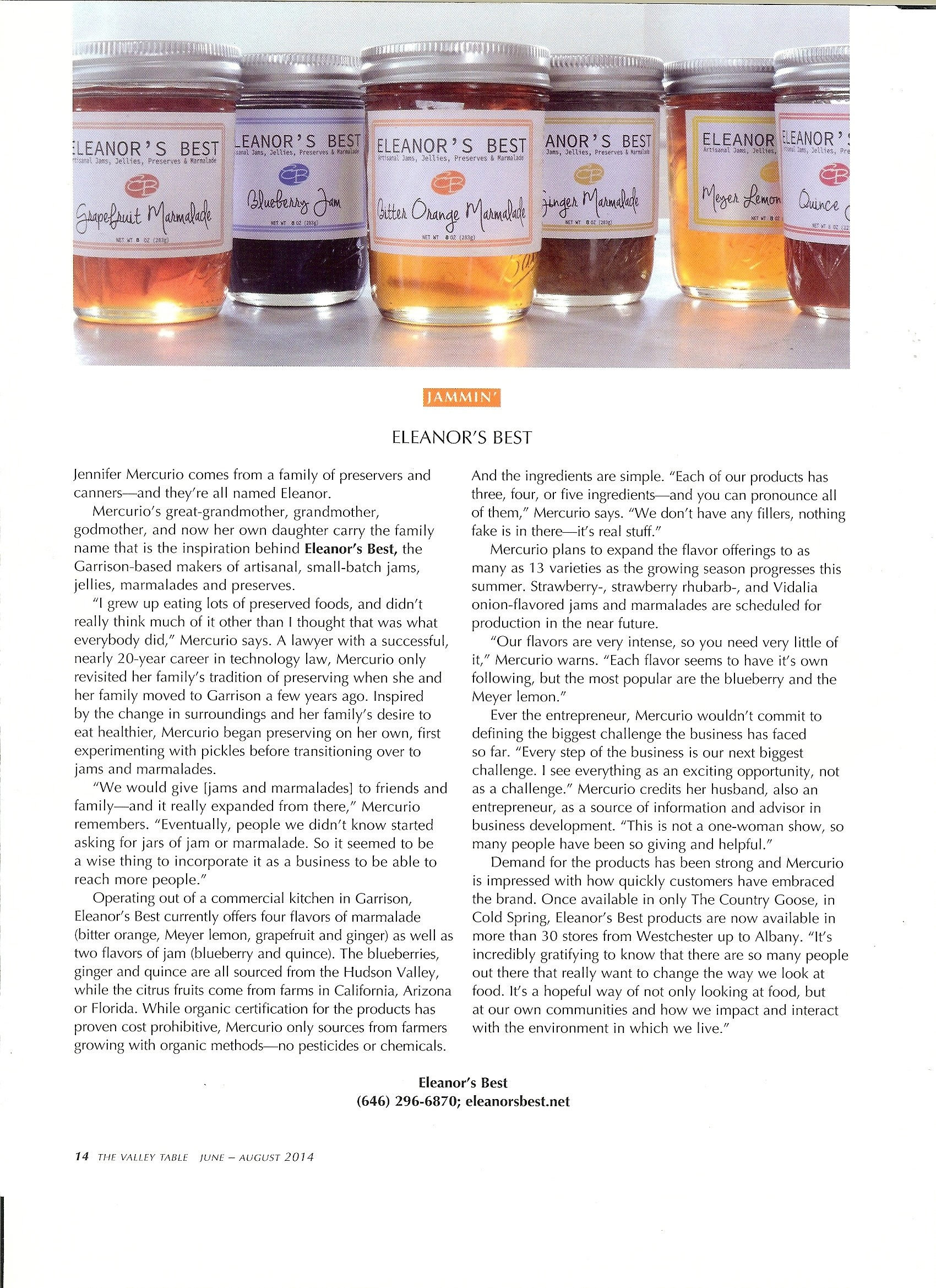 Valley Table Magazine 1.6.14